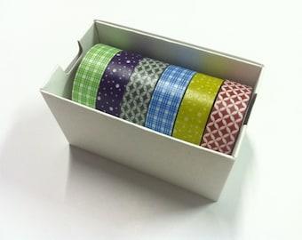 MT Masking Tape /  Japanese Washi Masking Tape / Gift Box Japanese pattern / MT06P002 / 6 roll of set