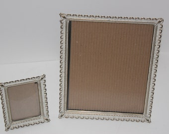 Vintage Filigree metal Frames / set of 2