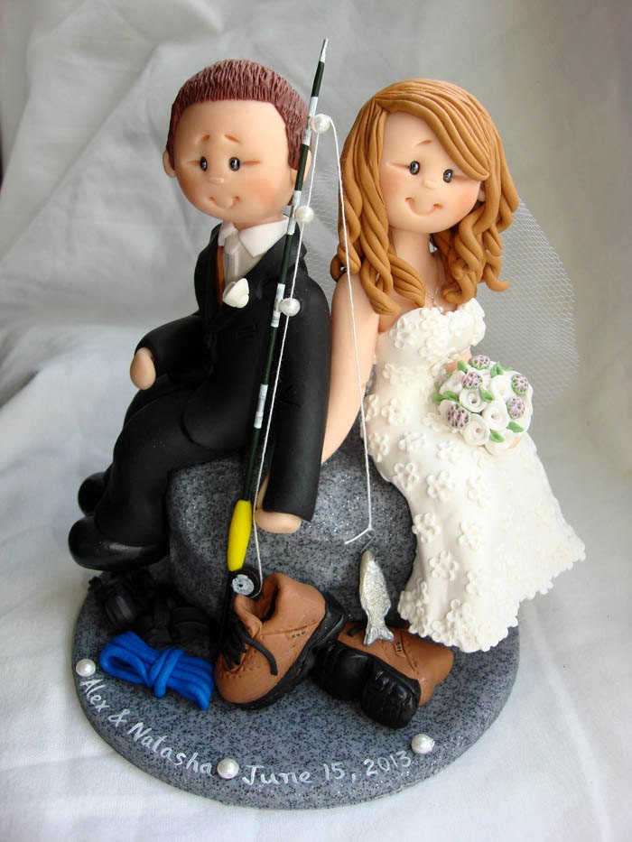 rock climbing wedding cake toppers fishing amp rock climbing wedding cake topper with rock 19248