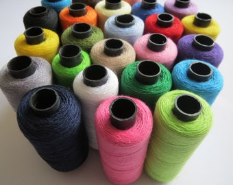 25 FULL Reels Quality Sewing Thread 100% Cotton Many Colours Machine Craft