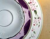 Mismatched China Dinnerware: Mixed pattern place setting, vintage plates, wedding centerpiece, set M12