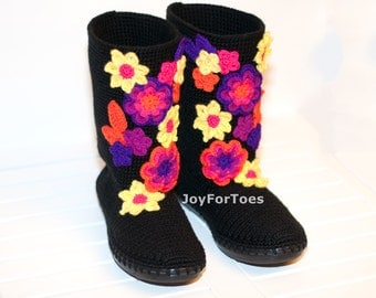 Crochet Boots for the Street Folk Tribal Boots Boho Boots Made to Order  Hawaii