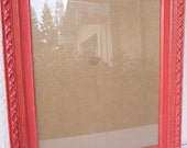 Custom order for Christine- 16x20 Wood Picture Frame Painted Red and Distressed