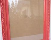 Commande pour Christine - 16 x 20 bois Photo Frame peinte rouge et Distressed