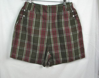 1960s Plaid Madras Shorts.............size Large