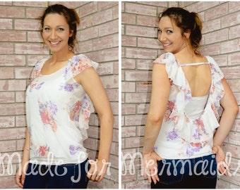 Women's Ella Knit Top PDF Sewing Pattern Sizes XXS-XXXL