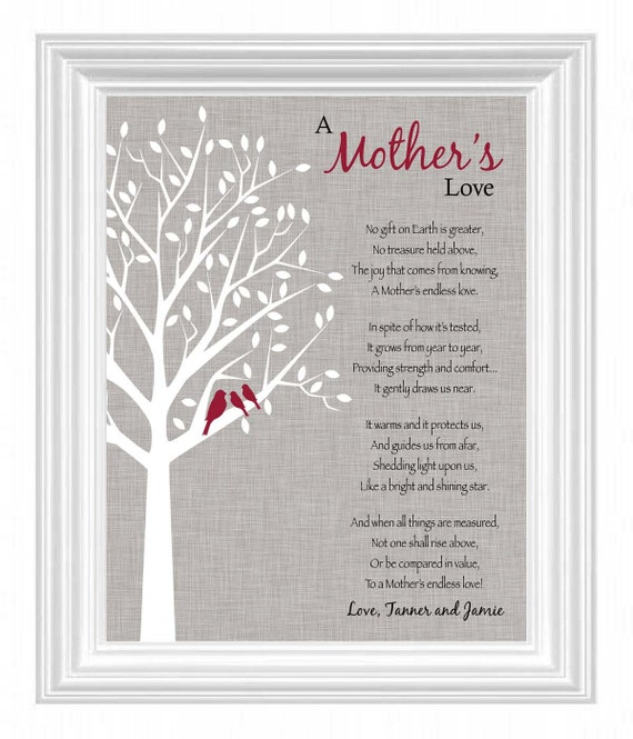 Mother 39 S Day Gift Mom Gift Print Personalized Mother