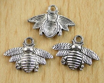 21X16mm Tibetan Silver Bee Findings 12pcs H0013