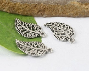 30pcs  pave leaf charms findings (H0157,H0585,h0586 or h0615)