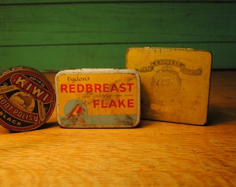red breast tobacco State Express tin From Piccadilly London  and Kiwi classic boot polish black tin marked DUTY FREE HM ships only rare