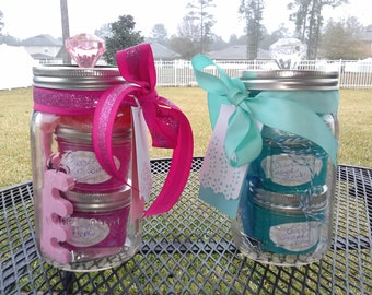 """Mason Jar Gift Set - """"It's a Boy"""" or """"It's a Girl"""" Hospital Gift To Mom -  Baby Shower Gift"""