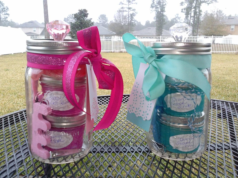 mason jar gift set it's a boy or it's a by masonjardesignsbych, Baby shower