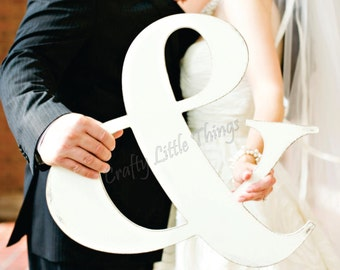 Unpainted 12 inch wooden ampersand wedding pictures mr & mrs wedding