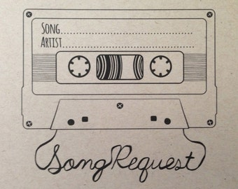 Song Request Mixtape Card- Digital Design Style 2
