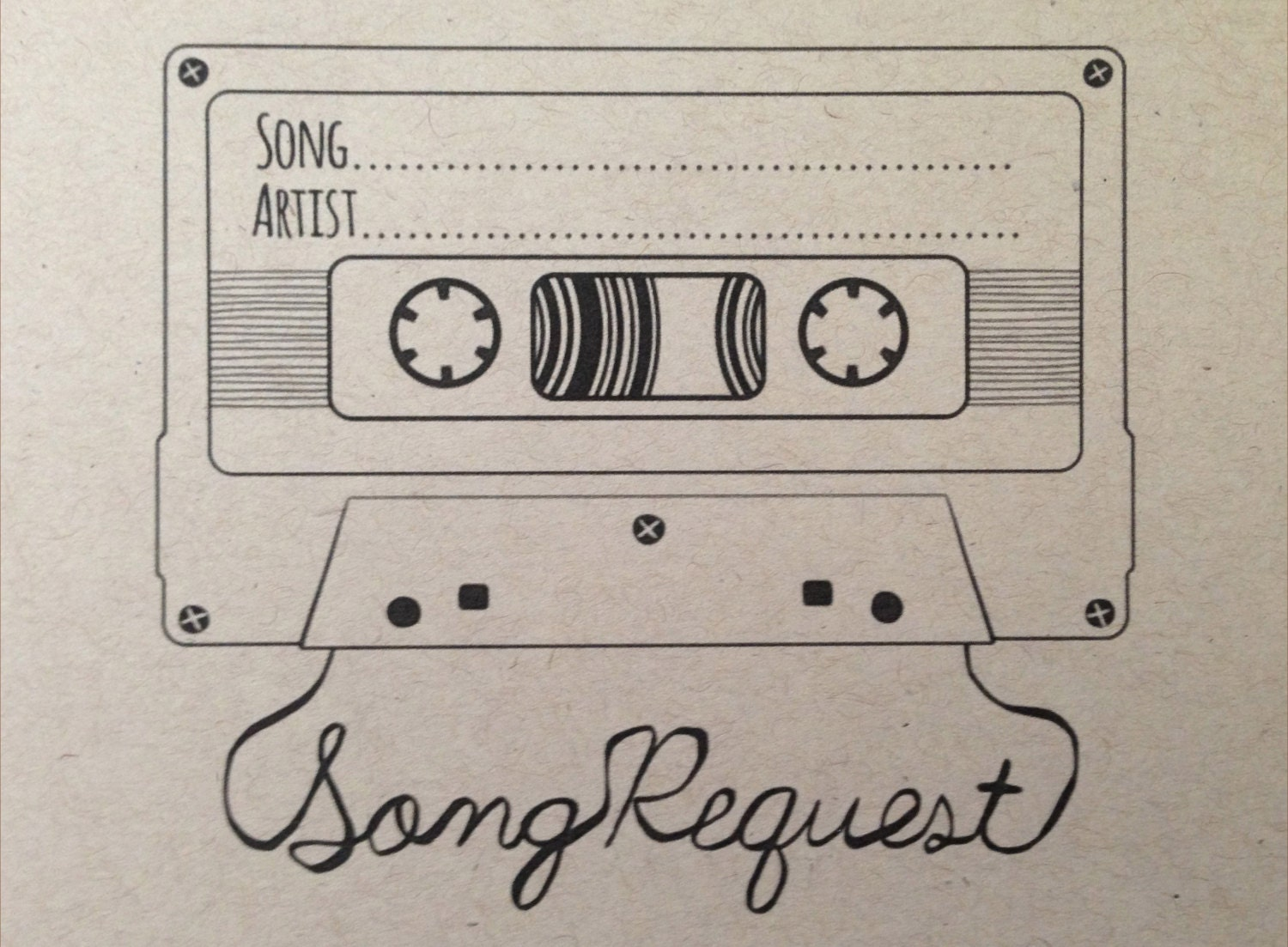 Song Request Mixtape Card Digital Design Style 2 Zoom Monicamarmolfo Image Collections