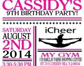 Custom cheerleading invitation