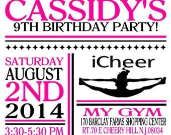 Custom cheerleading invitation