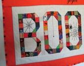 HALLOWEEN BOO Wall Art  Mini Quilt Home Holiday Decor