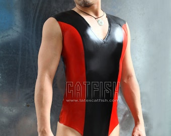 Man Latex Catsuit /  Short Catsuit