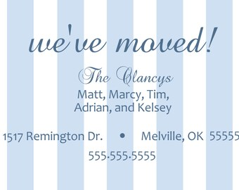 Wide Stripe New Address Announcement