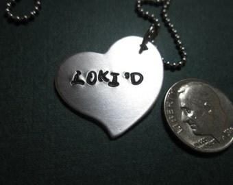 "Heart Necklace Loki'd"" necklace"