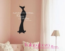 Classy and Fabulous Wall Decal - Nursery wall decal - Dress wall decal - Coco Chanel Wall Quote - Girls Room Wall Decal - Wall Decor