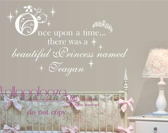 Princess Wall Decor princess name decal | etsy