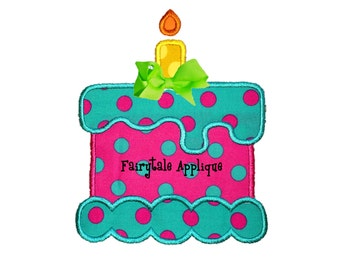 Digital Machine Embroidery Design -  Melty Cake Applique