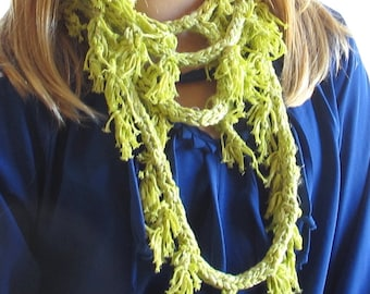 Lime Green I-Cord Necklace