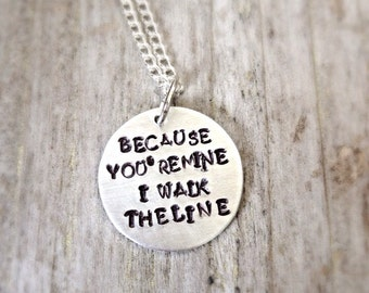 Popular Items For Johnny Cash Necklace On Etsy