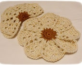 RESERVED FOR KELLY - Crocheted Dish cloths, Custom Order, 5 sets of 2 dish cloths, 100% cotton, multicolored, Ready to Ship