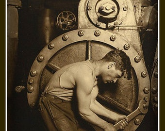 Fridge Magnet vintage image The Steamfitter steampunk classic industrial