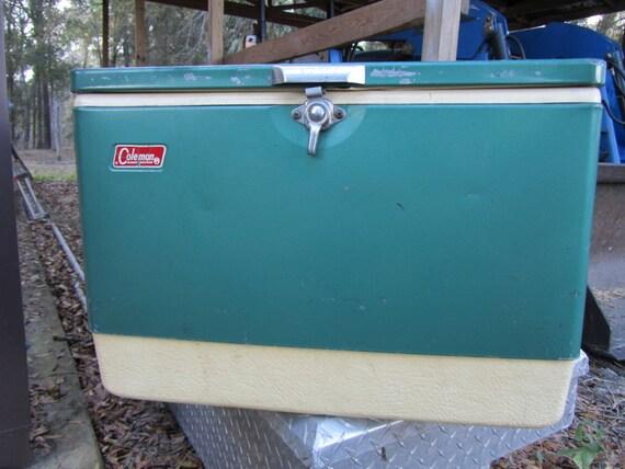 Vintage Cooler Coleman Coolermetal Coolerturquoise