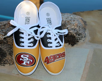 Hand Painted Shoes - San Fran 49ers