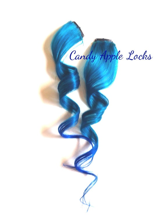 Mermaid Queen, Hair Extensions, Clip in Human Hair, Rainbow, Dip Dye, Ombre Real Hair