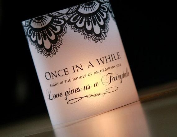 Once Upon A Time Luminary Fairytale Decor Luminary Wedding