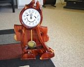 Wooden Cedar boy clock