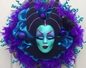 Maleficent Wreath Halloween Maleficent Wreath - reserved for Ashley Santiago
