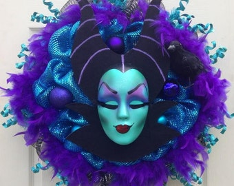Maleficent Wreath Halloween Maleficent Wreath - 21 left - shipping the 1st and 2nd week of September - MUST READ LISTING!!