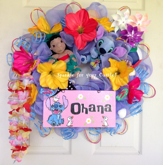 Lilo And Stitch Wreath