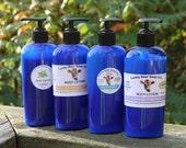 LAVENDER Organic Lotion Aloe Vera, Pure Essential Oils Lucky Bear Soap Co.