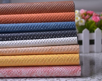 "27"" x 18'' Snake Skin Faux Leather Fabric,Snake Pattern Fabric,Snake Skin Leather For Bags Making,Pouch Fabric"