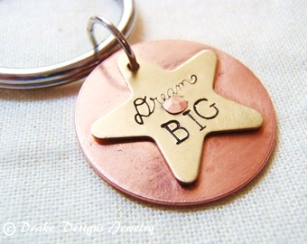dream BIG keychain graduation keychain