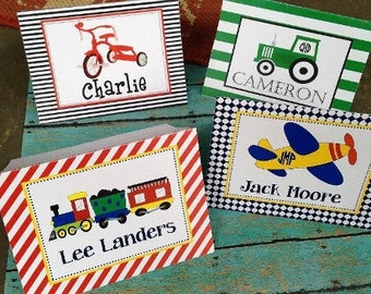 Train Notes, Boys Notes, Airplane notes, Boys stationery, Boys Stationary, Tractor notes, Tricycle stationery, boy notes