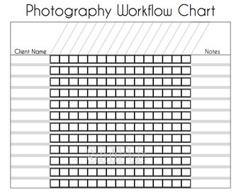 Photography Workflow Charts Set - EDITABLE Printables, Photography Work Organizer, Instant Download