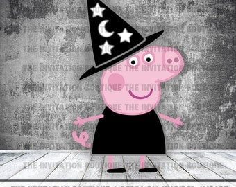 Peppa Pig Clipart - Halloween Witch
