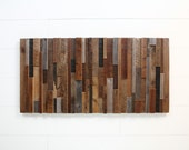 Reclaimed wood wall art, Made of old barnwood, Different Sizes Available.