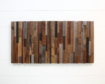 Reclaimed wood wall art, Made of old barnwood, Different Sizes Available, Large wall art, Large art, wood wall sculpture