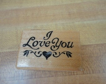 personal Stamp Exchange /PSX 1988 I love You Rubber Stamp