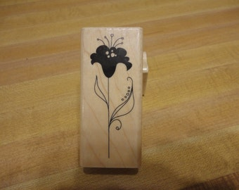 Inkadinkado Flower Stem Rubber Stamp